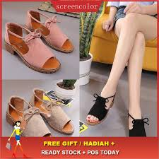 <b>Women Ladies Summer Holiday</b> Sandals Shoes | Shopee Malaysia