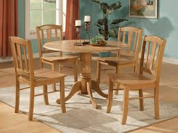 5pc Round Dinette Kitchen Dining Set Table And 4 Chairs Ebay Picture