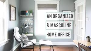 masculine home office. An Organized And Masculine Home Office Tour