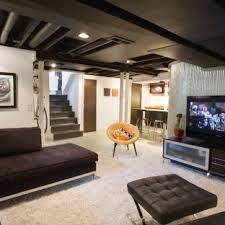 basement remodeling cincinnati. Example Of An Urban Underground White Floor Basement Design In Cincinnati With Walls Remodeling
