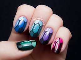 Chalkboard Nails - Gemstones tutorial | Nail Art | Pinterest | Gem ...