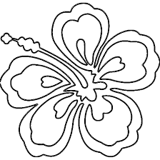 Small Picture hawaiian coloring pages Hawaii Flower Coloring Page AZ
