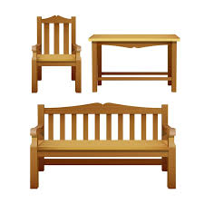 premium vector chair bench and table