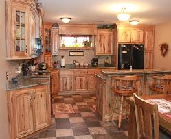 Rustic Log Kitchen Cabinets The Cabinets Plus Rustic Hickory Kitchen Cabinets Rustic Hickory