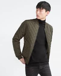 zara quilted er jacket in natural for men lyst