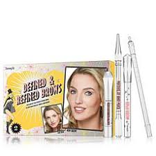 benefit cosmetics defined refined brow kit lt brown