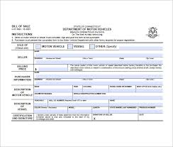 Free Sample Of Bill Of Sale Bill Sale Form The Newninthprecinct