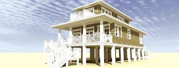 beach house plans on pilings new beachfront homes oceanfront
