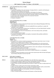 Licensed Practical Nurse Resume Samples Velvet Jobs