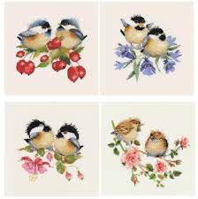 Chick Chat Birds Set Of 4 By Valerie Pfeiffer