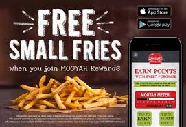 the mooyah rewards app and get free small fries