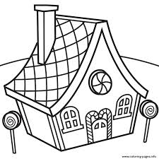 Small Picture Candy House Coloring pages Printable
