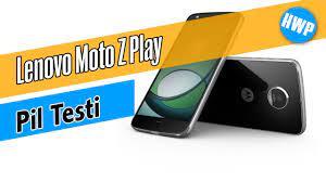 Lenovo Moto Z Play Pil Testi - YouTube