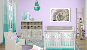 this crib bedding collection features a beautiful watercolor mermaid print in purple lavender mint teal and peachy pink you ll fall in love with the