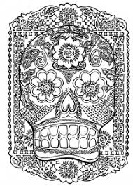 Small Picture Sugar skull Coloring pages for adults JustColor