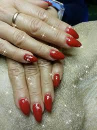 červené Gelové Nehty Nehtikcz