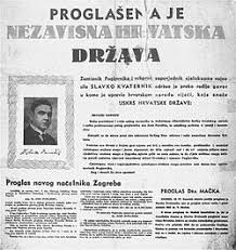 Image result for images of A collection of Catholic newspapers issued in Ustasha Croatia, all showing Pavelic portrait.