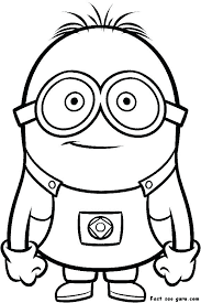 Printable Despicable Me Minions Coloring Pages Kids Kitchen Of