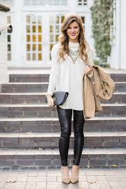 faux leather leggings winter date night outfit 152