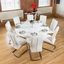 winsome dining room furniture medium yellow wood high top trestle midcentury modern large round storage lacquered chrome white round dining table set plank