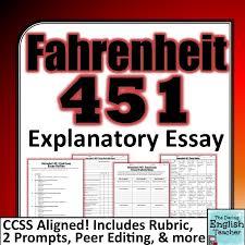 best teaching fahrenheit images fahrenheit fahrenheit 451 final explanatory essay