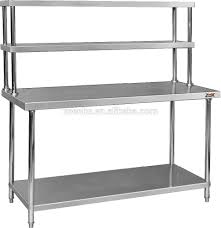 Work Table For Kitchen Assembly 2 Tier Kitchen Work Table Stainless Steel Kitchen