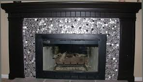 tile fireplace installing stainless steel aluminum or even copper tiles as a fireplace surround is a