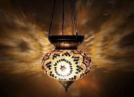 turkish handmade mosaic hanging lamp wer drt