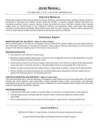 Example Of A Marketing Resume