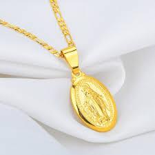 men and women virgin mary medallion