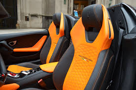 huracan interior orange. used 2017 lamborghini huracan spyder lp 6104 chicago il interior orange l