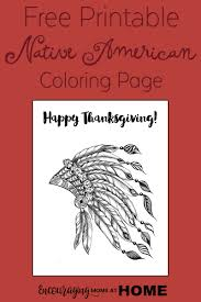 Family Fun Coloring Pages Thanksgiving Native American Indian