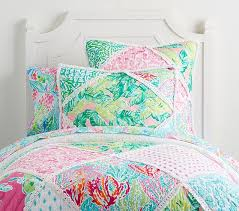 lilly pulitzer bedspread. Exellent Lilly Lilly Pulitzer Party Patchwork Quilt For Bedspread