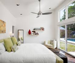 image of bedroom contemporary ceiling fans