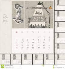 2015 Monthly Calendar Template Stock Vector Illustration