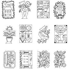Amazoncom Just Folksy Mini Coloring Book