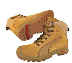 puma work boots. puma-safety-boots-nullarbor-wheat-zip-sided-work- puma work boots a