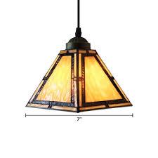 cone shade tiffany pendant light in