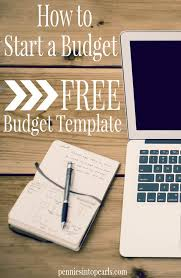 Starting a Budget - Free Budget Template