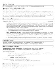 Best solutions Of Distribution Center General Manager Resume About Data  Center Operator Sample Resume