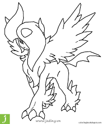 Dễ Thương Tranh Tô Màu Pokemon Mega