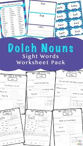 Dolch Second Grade Sight Words Flash Cards Sight Words Flash Cards Dolch Nouns Fun With Mama