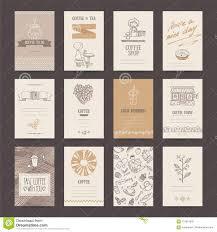 Coffee Shop Business Card Flyer Menu Template Stock Vector