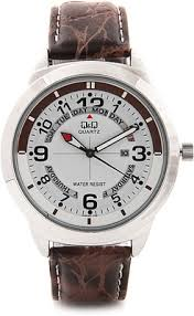 lowest price for q q analog watch for men brown price in lowest price for q q analog watch for men brown price in on 24 2017 specifications features and reviews discountpandit