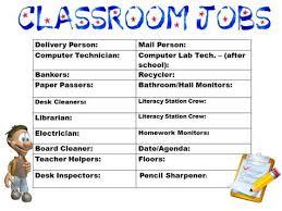 4th Grade Classroom Job Chart Mini Economy Mrs Warners Learning Community