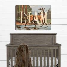 rustic boy room name sign woodland nursery decor cabin nursery cabin nursery decor