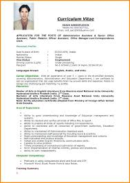 Resume Format For Abroad Example Of Resume To Apply Job Resume