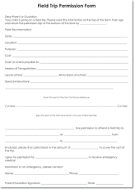 Sample Permission Slips For Field Trips Field Trip Permission Slip Template School Of In Printable
