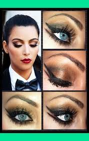 kim k beautiful eye makeup
