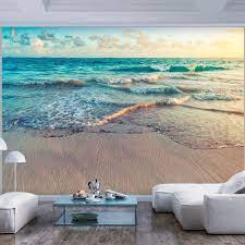 Beach wall murals, Unique wall decor ...